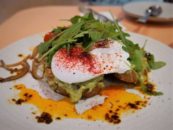 avocado toast with poached egg routine jb malaysia restaurant