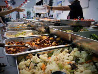 kuai le zhai vegetarian economy rice johor bahru malaysia restaurant buffet