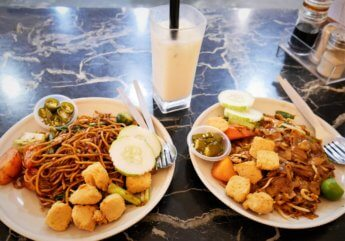 toast and coffee johor bahru vegetarian kuey teow saucy noodles
