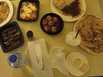 1 Two weeks in Dubai United Arab Emirates UAE Day 1 falafel delivery food Careem