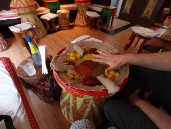 23 Two weeks in Dubai United Arab Emirates UAE Day 5 zagol ethiopian food yetsom vegetarian injera
