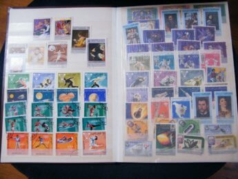 4 Carl Wright the old fellow goes running philately stamps Sharjah trucial states