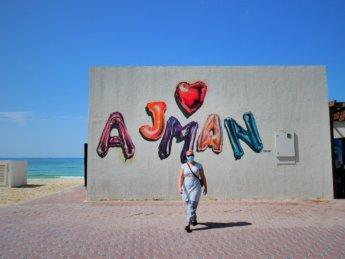 ajman graffiti street art uae emirate