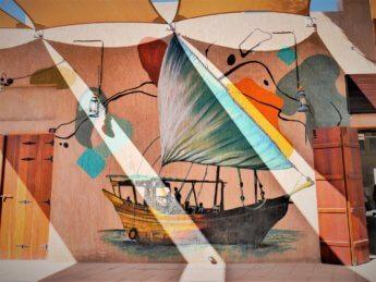 ajman heritage district street art dhow boat shipbuilding