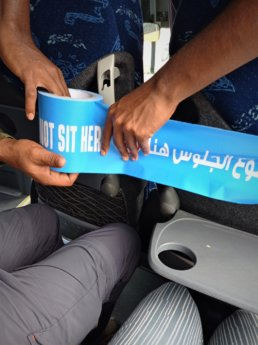 2 sharjah bus station do not sit here covid social distancing measures
