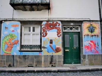 Ponta Delgada Street art graffiti decoration São Miguel island Azores portugal