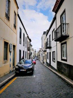Ponta Delgada narrow streets wheelchair and pedestrian unfriendly
