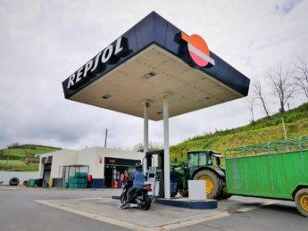 A Repsol Gas station São Miguel island Azores scooter rental motorbike road trip