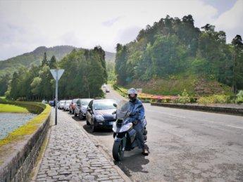 Jonas scooter rental Sete Cidades São Miguel island Azores