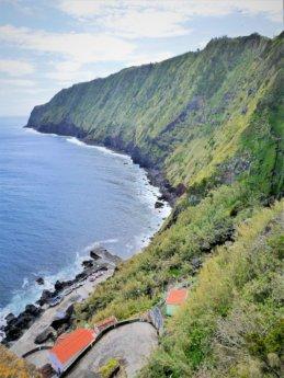 cliffs farol arnel lighthouse easternmost point São Miguel island Azores Portugal road trip scooter motorbike rental
