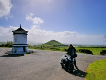 motorbike scooter rental azores road trip São Miguel Ponta Delgada