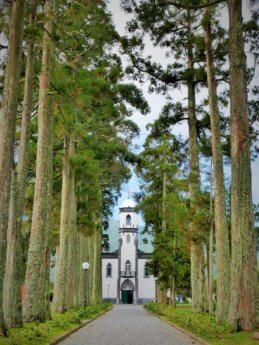 sete cidades church motorbike road trip São Miguel Island Azores