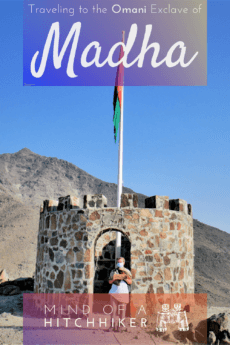 Is there a border crossing check point (immigration/customs) between Khor Fakkan in the UAE and Madha in Oman? Read the post to find out! #Nahwa #Madha #Oman #UAE #UnitedArabEmirates #Sharjah #Musandam #exclave #enclave #geography