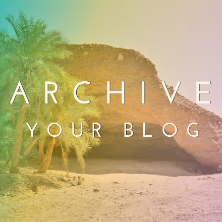 you page PHOTO archive your blog