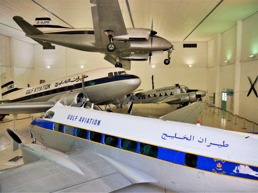 14 al mahatta museum hangar old airplanes on display Sharjah uae first airport