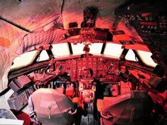 17 al mahatta cockpit comet airplane display museum sharjah uae