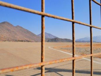 9 runway of Madha Airport Oman exclave UAE