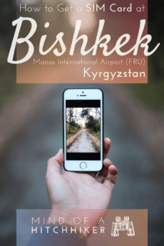Getting a SIM card upon arrival in Kyrgyzstan is cheap and very easy. Read this guide to know how to get one yourself even if you don't speak the language. #Kyrgyzstan #Kyrgyz #Kyrgyzstani #Kirghizia #Bishkek #Osh #IssykKul #TianShan #Fergana #Ferghana #Naryn #Karakol #CholponAta #SIMCard #SIM #telecom #MegaCom #Manas #CentralAsia #Asia #stan