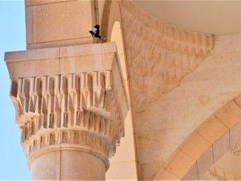 15 detail muqarna stalactites on column riwaq UAE sheikh zayed mosque Fujairah