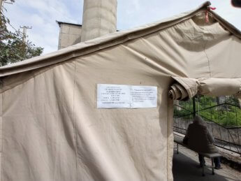 19 medical tent family medicine center bishkek kyrgyzstan vaccination drive