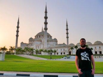 2 Jonas at Fujairah's hugest mosque
