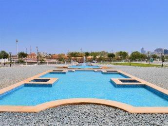 22 Islamic garden design pond water fountain pool Fujairah mosque
