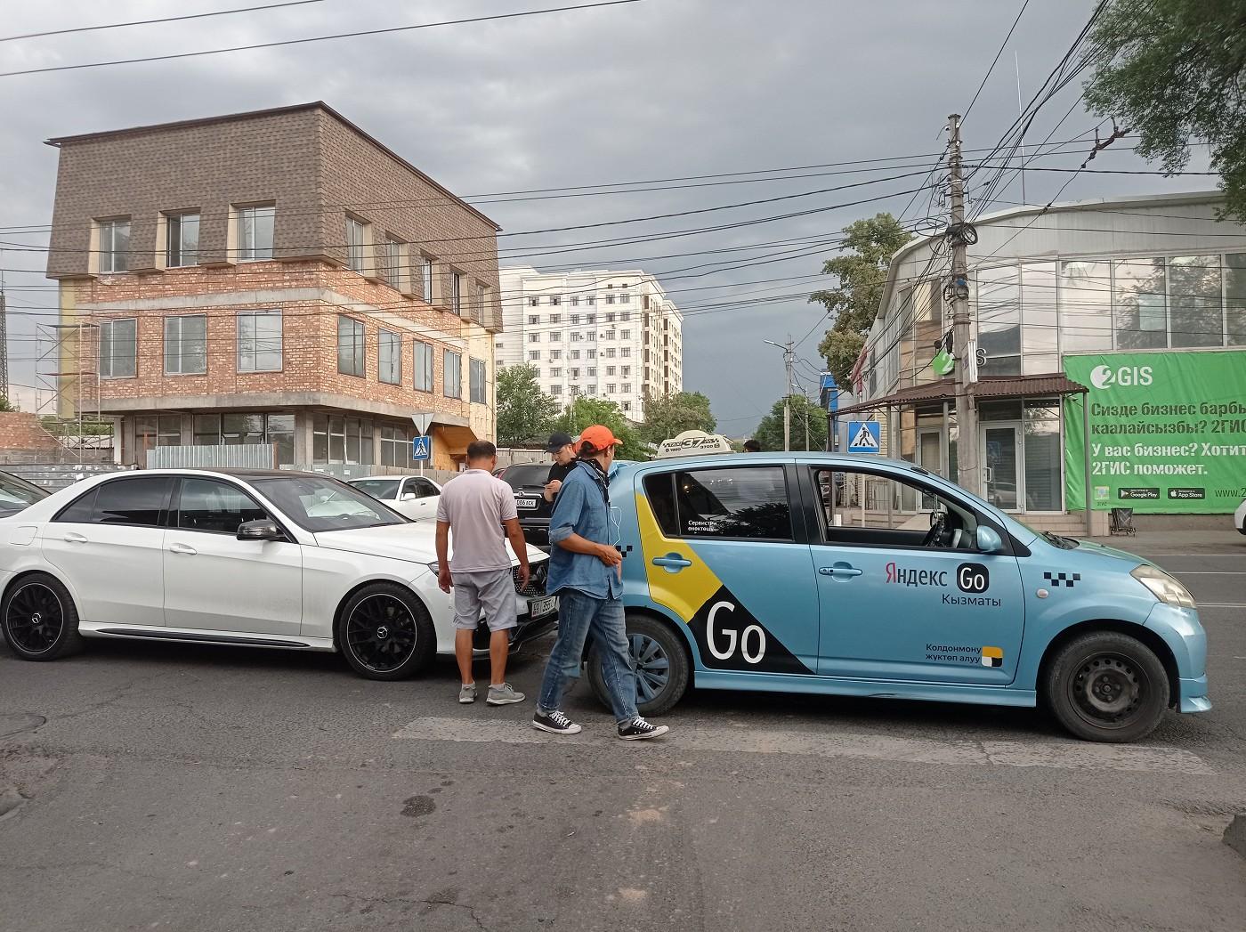 Yandex taxi car crash Bishkek Kyrgyzstan