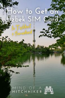 Buying a SIM card in Tashkent Samarkand Uzbekistan
