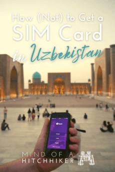 Getting a SIM card in Uzbekistan, Tashkent Samarkand