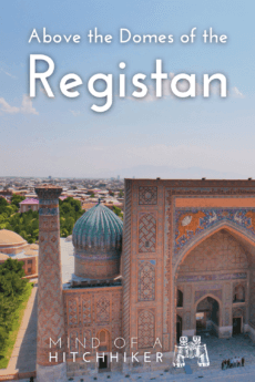 Registan Samarkand Uzbekistan Madrasah panorama vista