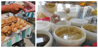 chorsu bazaar uzbek bread tashkent honey central asia