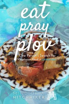 Eat pray plov pin turquoise uzbekistan sote food vegan vegetarian