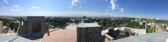 iphone panorama registan top of minaret