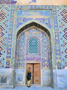 6 vaulted gates with mosaics in Samarkand Uzbekistan instagram