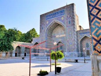 7 carpet beaters madrasah Uzbekistan Samarkand