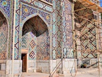 8 renovation madrasah earthquake Samarkand damage