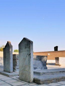15 cemetery graves at xoja ahror complex Samarkand Uzbekistan