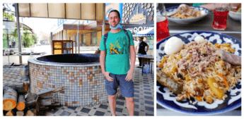 plov center tashkent uzbekistan osh food bazaar market restaurant rice meat kuzon