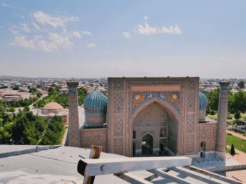 sherdor madrasah vista minaret registan samarkand
