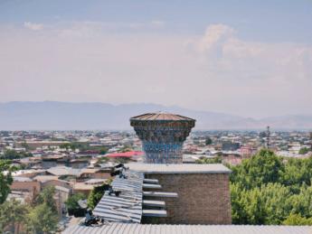 ulugh beg madrasah minaret climb vista staircase registan