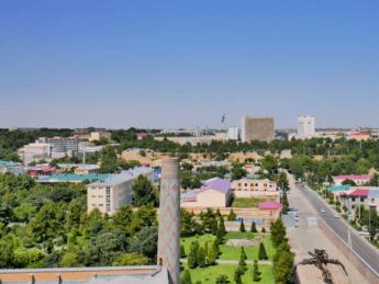 vista registan samarkand uzbekistan