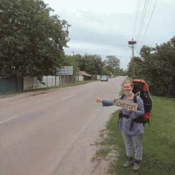 hitchhiking chernihiv to kharkiv ukraine 2021