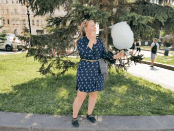 Cotton candy at Maidan Nezalezhnosti