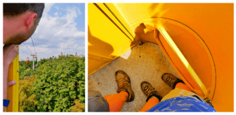 kharkiv cable car tiny cabin two person aerial lift gondola