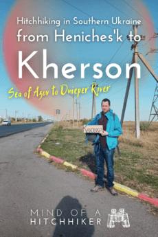 Hitchhiking Heniches'k to Kherson southern Ukraine 1