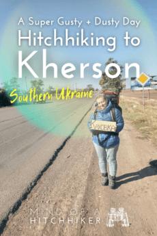 Hitchhiking Heniches'k to Kherson southern Ukraine 2