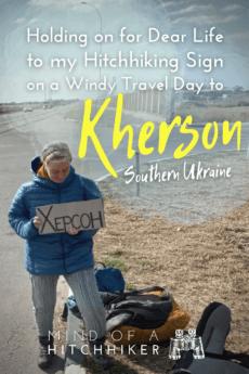 Hitchhiking Heniches'k to Kherson southern Ukraine 3