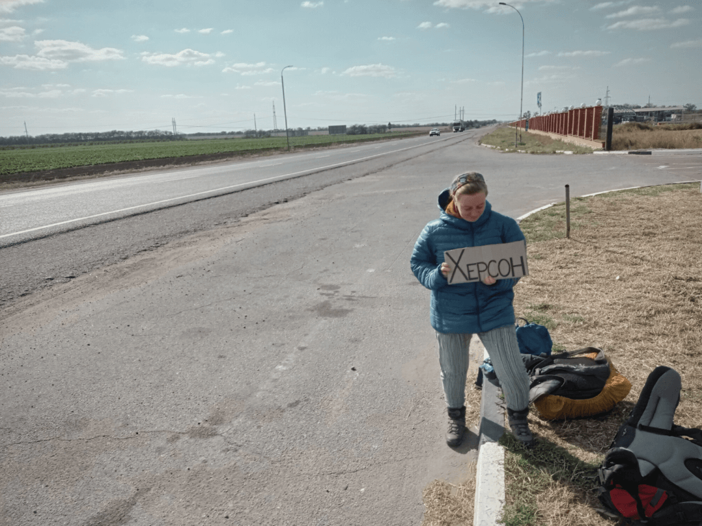 featured Hitchhiking Heniches'k to Kherson southern Ukraine
