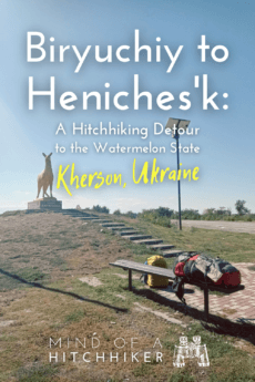 hitchhiking from biryuchiy island kyrylivka to henichesk heniches'k southern ukraine kherson 2