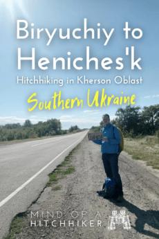 hitchhiking from biryuchiy island kyrylivka to henichesk heniches'k southern ukraine kherson 3